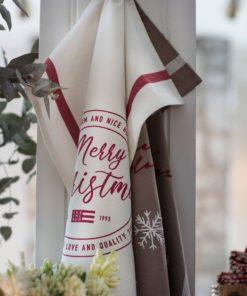 Lexington Merry Christmas Organic Cotton Twill Kitchen Towel