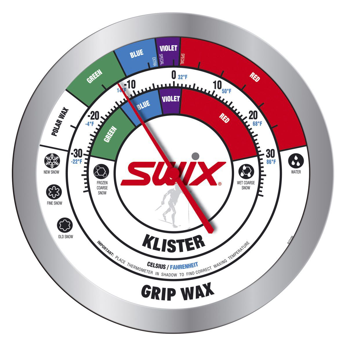 Swix R0220N Round Wall thermometer