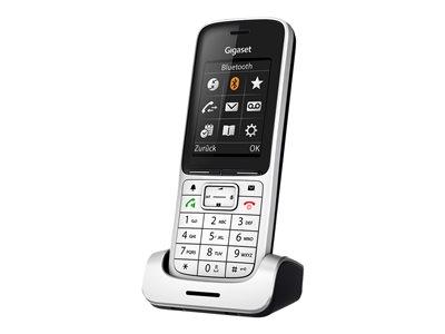 Gigaset SL 45HX håndsett - DECT telefon med Bluetooth - Sølv-Svart