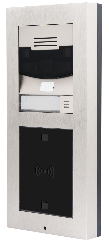 VERSO IP portelefon med touchdisplay og RFDI-leser for adgang. Uten kamera.