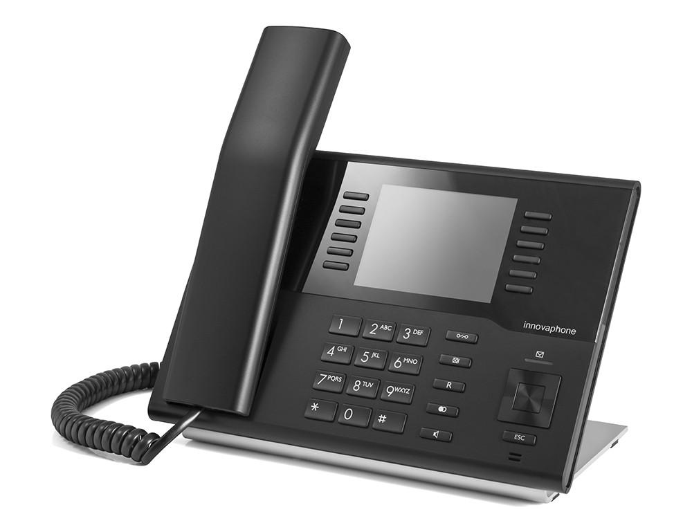 Innovaphone IP222 med fargeskjerm. Sort.