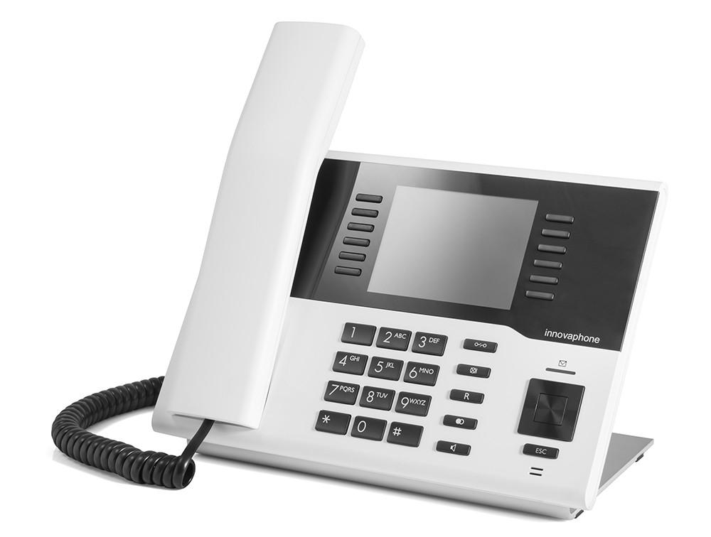 Innovaphone IP222 med fargeskjerm. Hvit.