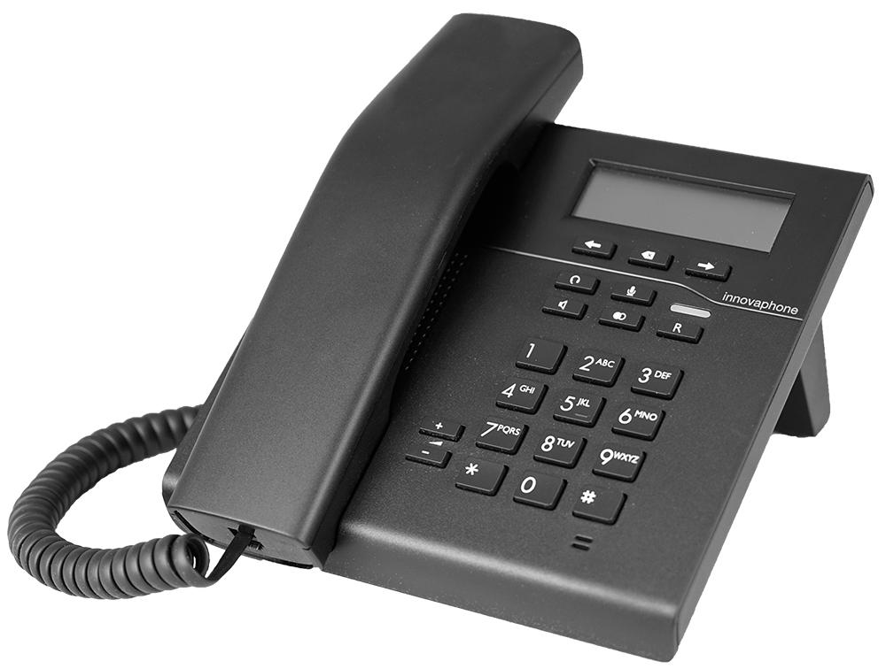 Innovaphone IP101 med sort/hvit skjerm. Sort.