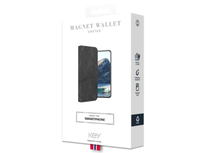 Wallet for Samsung A40 - Svart