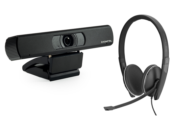 Konftel CAM 20 + EPOS SC 165 - for personlig videokonferanse