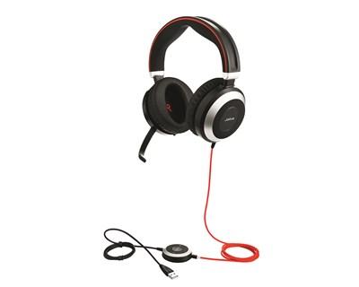 Jabra Evolve 80 MS Stereo - kablet hodesett - 24 mnd garanti.