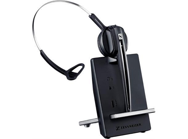 Sennheiser D10 Mono Et trådløst DECT hodesett for Skype og Softphone- svart - 24. mnd. garanti