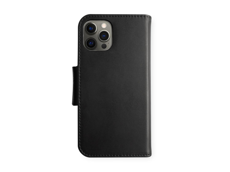 Wallet for iPhone 12 Pro Max - syntetisk skinn - svart