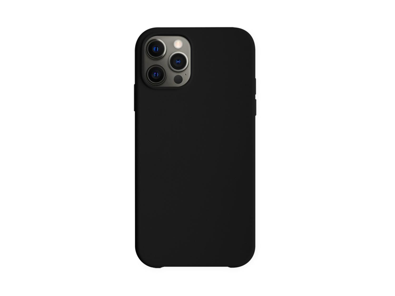 Baksidedeksel for iPhone 12 Pro Max - silikon - svart