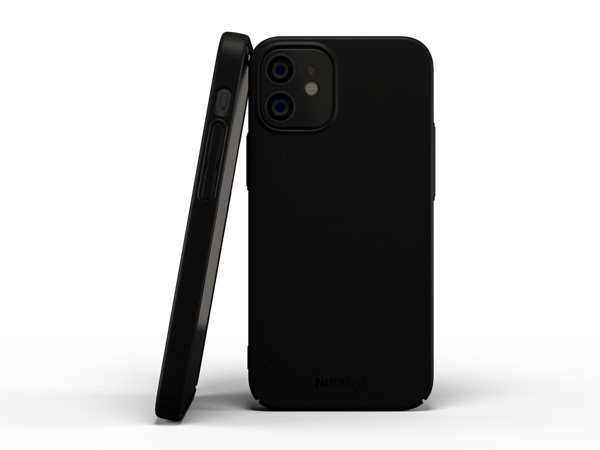 Baksidedeksel for iPhone 12 Mini - termoplast - svart