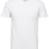 Selected Homme SlhPima SS V-Neck Basic Tee