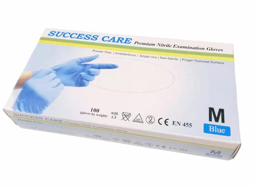 NITRIL ENGANGSHANSKER SUCCESS CARE STR M