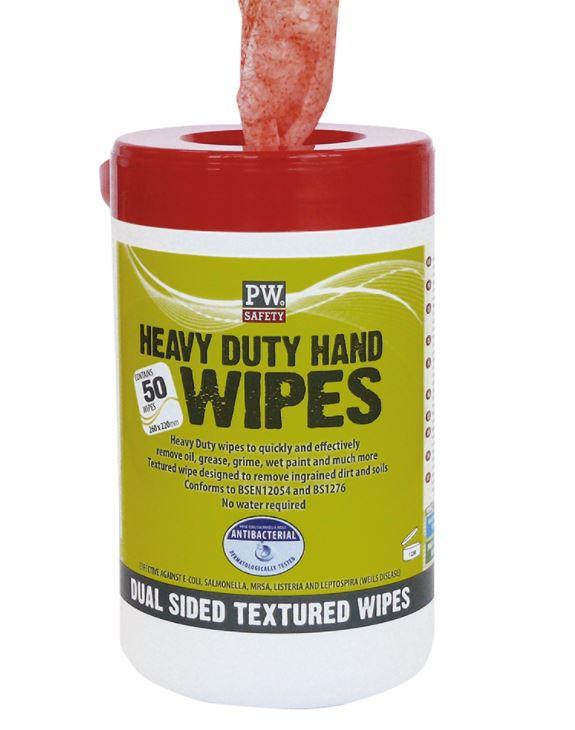 PORTWEST HEAVY DUTY HAND WIPES 50PK
