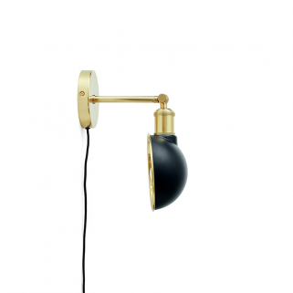 Walker Vegglampe Black/Brass