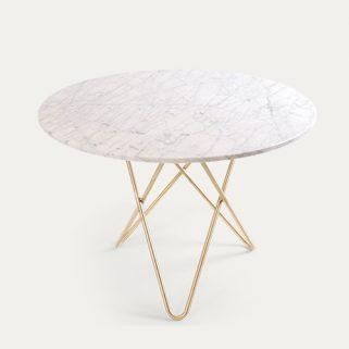 O Spisebord 100Ø Messingben