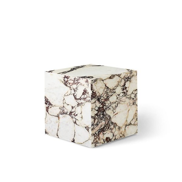 Plinth Cubic Marmor Rose Sidebord