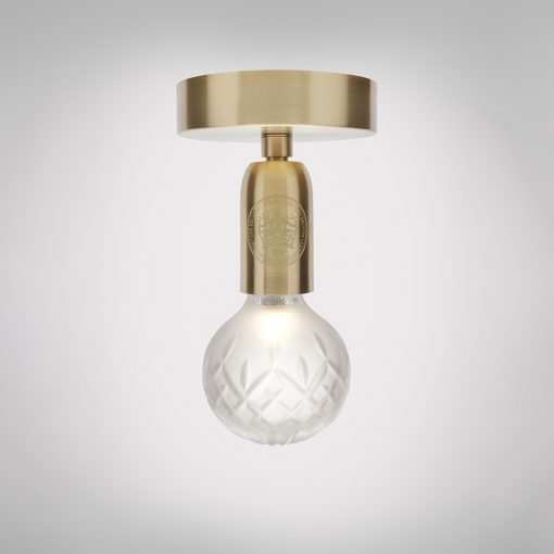 Crystal Bulb Taklampe Frostet/Messing