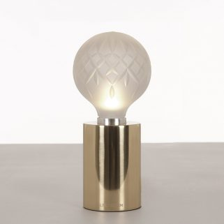 Crystal Bulb Bordlampe Frostet/Messing