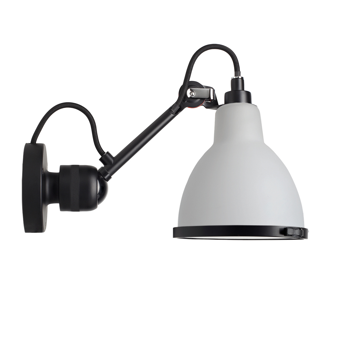 N304 Baderomslampe Svart/Frostet