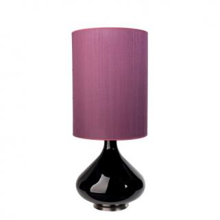 Flavia Bordlampe Burgunder 40x30