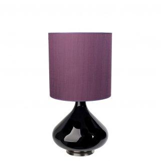 Flavia Bordlampe Burgunder 30x30