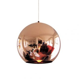 Copper Round Taklampe 45