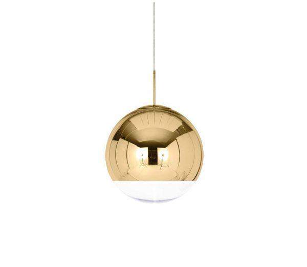 Mirror Ball Gold Taklampe 25