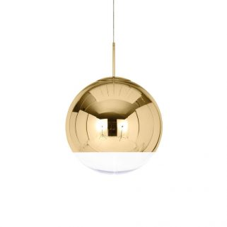Mirror Ball Gold Taklampe 40