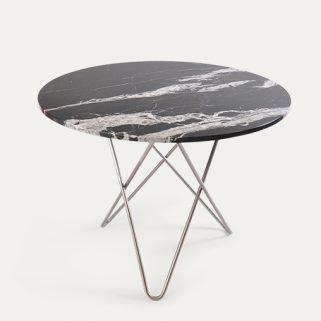 O Spisebord 100Ø Stålben