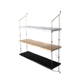 Morse Shelf Messingramme