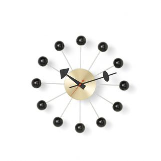 Klokke Ball 33Ø Black/Brass