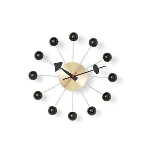 Klokke Ball 33Ø Black/Brass