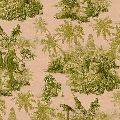 Tapet Sumatra Blush/Pear-Green