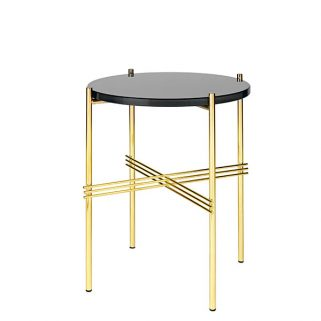 TS Coffee Table Ø40 Messing/Glass