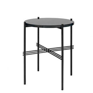 TS Coffee Table Ø40 Sort/Glass