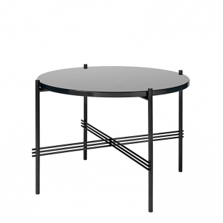 TS Coffee Table Ø55 Sort/Glass