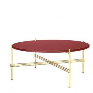 TS Coffee Table Ø80 Messing/Glass