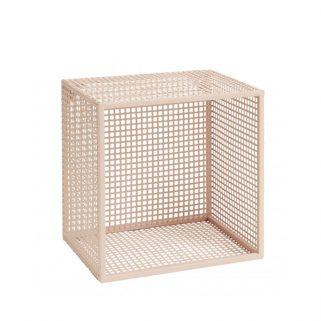 Wire Hylle Box Rosa S