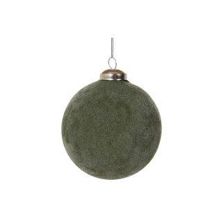 Julekule Grønn Frostet 8cm