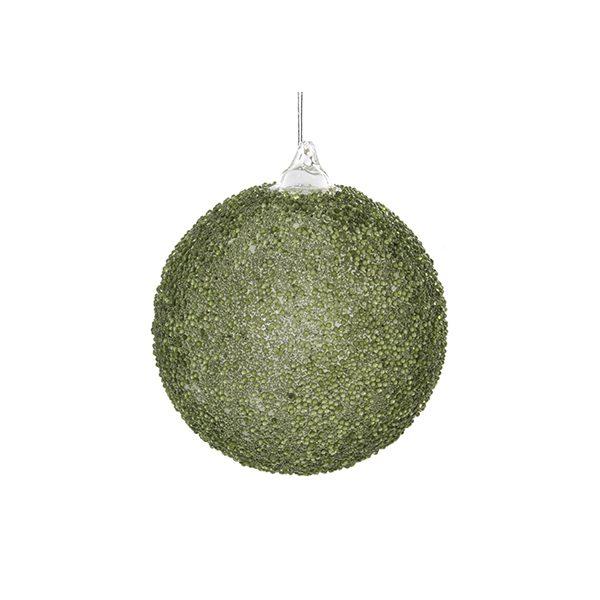 Julekule Grønn Perler 8cm