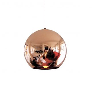 Copper Round Taklampe 25