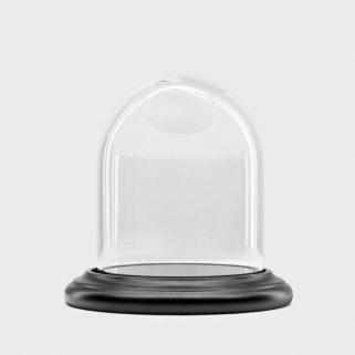 Glassklokke Ø9.5 H12 Sort