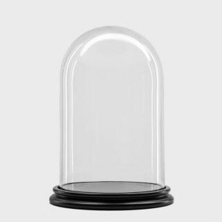 Glassklokke Ø22 H34 Sort