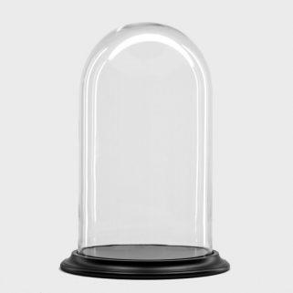 Glassklokke Ø26,5 H45 Sort