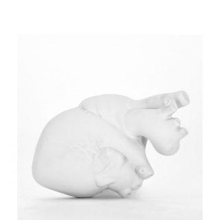 Porselenshjerte Hvit