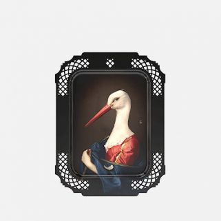 Dekorbrett Madame la Cigogne
