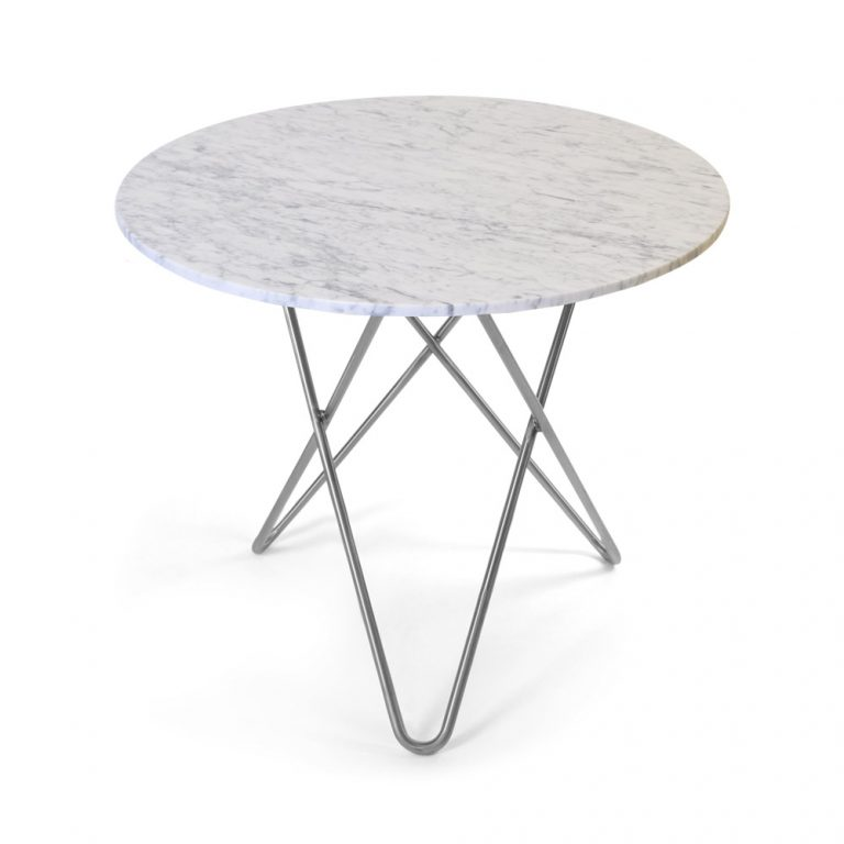O Spisebord 80Ø Stålben