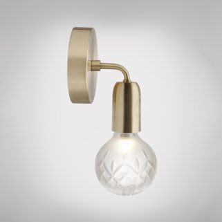 Crystal Bulb Vegglampe Frostet/Messing