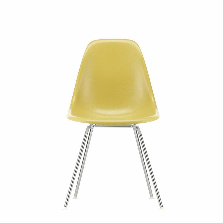 Eames Fiberglass Side Chair DSX Chromed