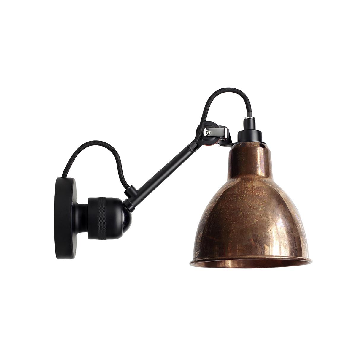 N304 BL Kobber Vegglampe